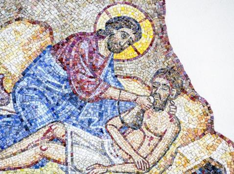 The Good Samaritan (detail)